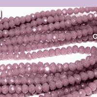 Cristal facetado de 2 mm, color lila, tira de 190 cristales aprox.