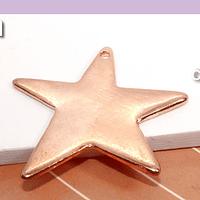 Estrella irregular de baño de cobre, 31 mm, por unidad