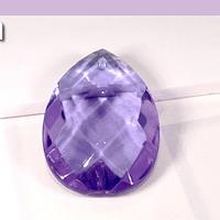 Cristal gota lila, 31 x 20 mm, por unidad