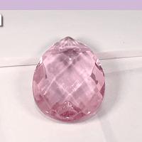 Cristal gota rosada, 31 x 20 mm, por unidad