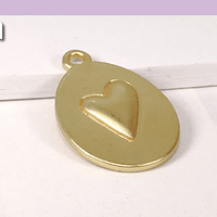 colgante baño de oro, 23 x 15 mm, por unidad