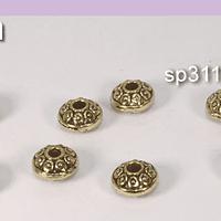 Separador dorado, 7 x 4 mm, set de 8 unidades