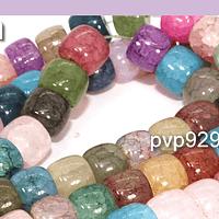 Vidrio imitación  perla de 10 x 8 mm, tira de 48 vidrios aprox
