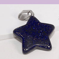 Dije piedra estrella, en forma de estrella, 21 mm, por unidad