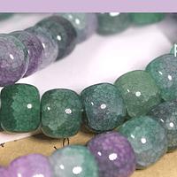 Vidrio imitación perla de 10 x 8 mm, tira de 47 vidrios aprox