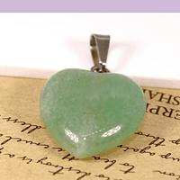 Dije Jade en forma de corazón, 15 x 16 mm, por unidad. San Valentin