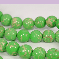 Turquesa imperial 8 mm, en tonos verde, tira de 47 ´piedras aprox