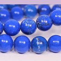 Turquesa imperial 8 mm, en tonos azules, tira de 47 ´piedras aprox