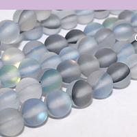 Cristal aurora mate gris de 6 mm, tira de 62 unidades aprox