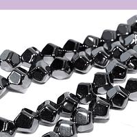 Hematite negra facetada  hexagonal de 4 mm, tira de 95 piedras aprox