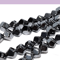 Hematite negra facetada de hexagonal de 6 mm, tira de 65 piedras aprox