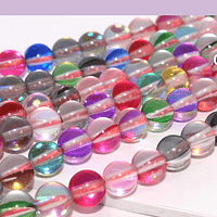 Cristal aurora multicolor, de 6 mm, tira de 62 unidades aprox