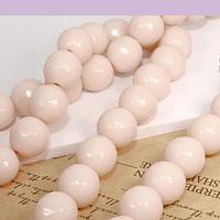 Agata facetada de 10 mm, en tono crema, tira de 37 piedras aprox.