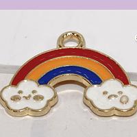 Esmaltado arcoiris, 25 x 19 mm, por unidad