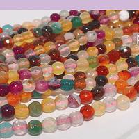 agatas en tonos multicolor en 4 mm, tira de 90 piedras aprox