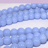 Perla de vidrio celeste 6 mm tira de 72 piedras aprox