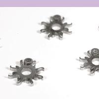 Dije acero sol, 11 mm, set de 4 unidades