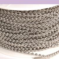 Cadena acero con bolas, de 2 mm, por metro