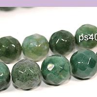 Agatas, Agata 14 mm en tonos verdes, tira de 13 unidades