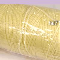 Hilos, hilo encerado crema rollo de 100 mts.