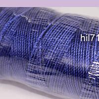 Hilos, hilo encerado azul, rollo de 100 mts.