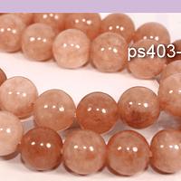 Peach moonstone de 8 mm, tira de 48 piedras aprox