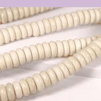 Turquesa rondell de 6 x 2 mm, tira de 80 piedras aprox