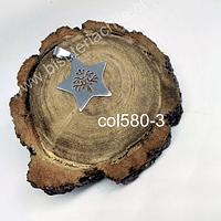 Colgante de acero inoxidable en forma d estrella con árbol de la vida, 28 mm de diámetro, por unidad
