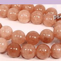 Peach moonstone de 10 mm, tira de 38 piedras aprox