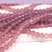Cristal lila  4 mm, tira de 125 cristales aprox