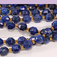 Lapislazuli de 8 mm, polígono facetado, set de 15 piedras