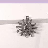 Dije sol de acero, 17 x 15 mm, por unidad