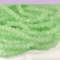 Cristal verde claro 4 mm, tira de 125 cristales aprox