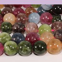 turmalina mix de 10 mm, tira de 38 piedras aprox