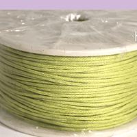 Hilos, Hilo de algodón verde claro,  1 mm, carrete de 40 yardas
