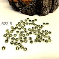 Separador dorado 4 mm de diámetro, set de 100 unidades