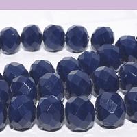 Cristal 10 x 8 mm, en color azul, set de 20 unidades