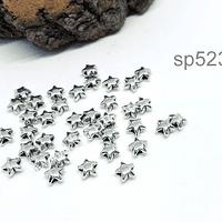 Separador estrella, 6 mm de diámetro, agujero de 1,5 mm, set de 38 unidades