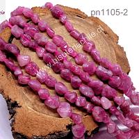 Turmalina redondeada Irregular, tira de 60 piedras, de 7 x 5 mm aprox.