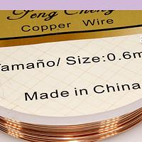 alambre de cobre color cobre 0.6 rollo de 4.3 metros