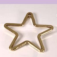 Colgante estrella dorado, 32 mm, por unidad