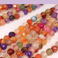 agatas en multicolor en 4 mm, tira de 90 piedras aprox