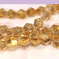 Cristal tupi 6 mm color amarillo dorado tornasol tira de 45 cristales aprox