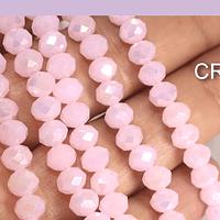 Cristal facetado en color rosado tornasol de 6 mm, tira de 89 cristales aprox