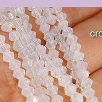 Cristal tupi 4 mm, color piedra luna, tira de 78 cristales aprox