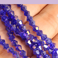 Cristal tupi 4 mm, color azul tornasol, tira de 78 cristales aprox