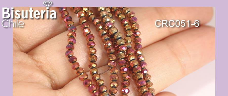 Cristal facetado dorado rosé metálico de 3 mm x 2 mm, tira de 130 cristales aprox.