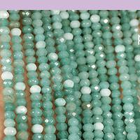Agatas, Agata rondell  de 4 mm, tira de 115 piedras aprox