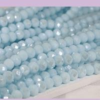 Cristal celeste perlado 4 mm, tira de 125 cristales aprox