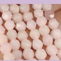Cuarzo rosado hexagonal, de 8 mm, tira de 20 piedras